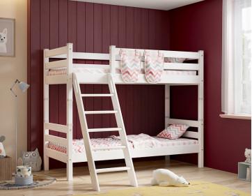 """Двухъярусная кровать """"Соня"""" с наклонной лестницей. Вариант 10"""