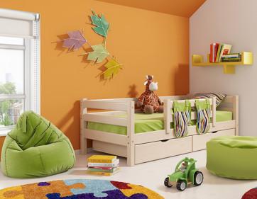 """Кровать """"Соня"""" с защитой по центру. Вариант 4"""