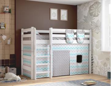 """Полувысокая кровать """"Соня"""" с прямой лестницей. Вариант 5"""