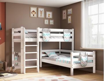 """Угловая кровать """"Соня"""" с прямой лестницей. Вариант 7"""