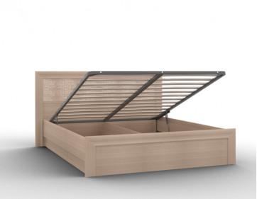 """Кровать-03/1 (1600) с кожаной спинкой и подъемным механизмом """"Gloss"""""""