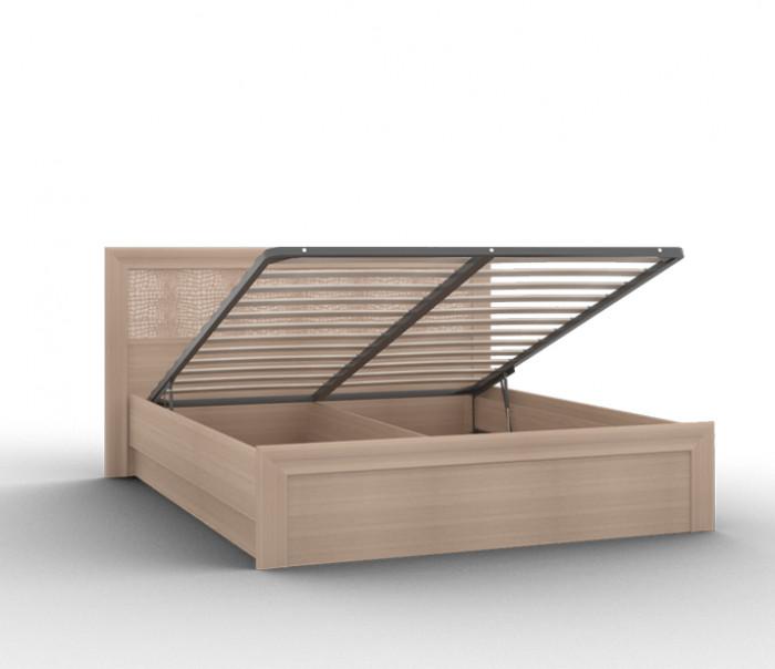 """Кровать-03/1 (1400) с кожаной спинкой и подъемным механизмом """"Gloss"""""""
