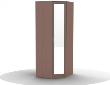 Шкаф для одежды угловой-01 (фасад с зеркалом) Волга